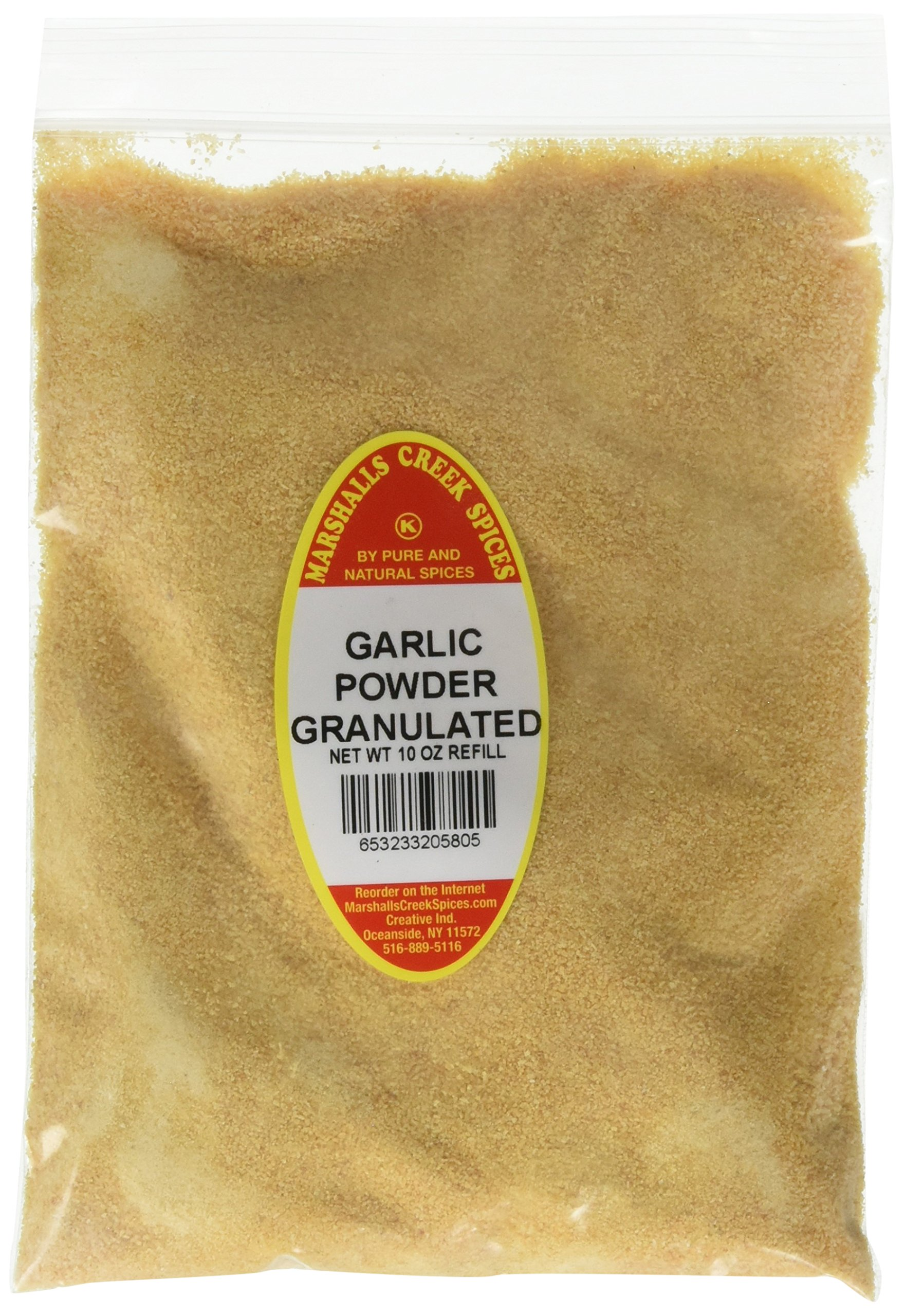Marshalls Creek Spices Kosher Granulated Garlic Powder Refill, 10 Ounce