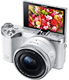 Samsung NX500 28 MP Wireless Smart Mirrorless Digital Camera with 16-50mm Power Zoom Lens (White)