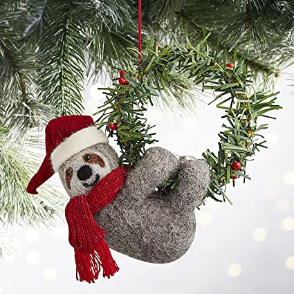 Pier One Christmas.Amazon Com Pier One Scully The Sloth Christmas Ornament Or