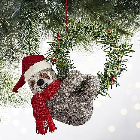 Muelle uno Skully el perezoso adorno de Navidad o servilleta anillo