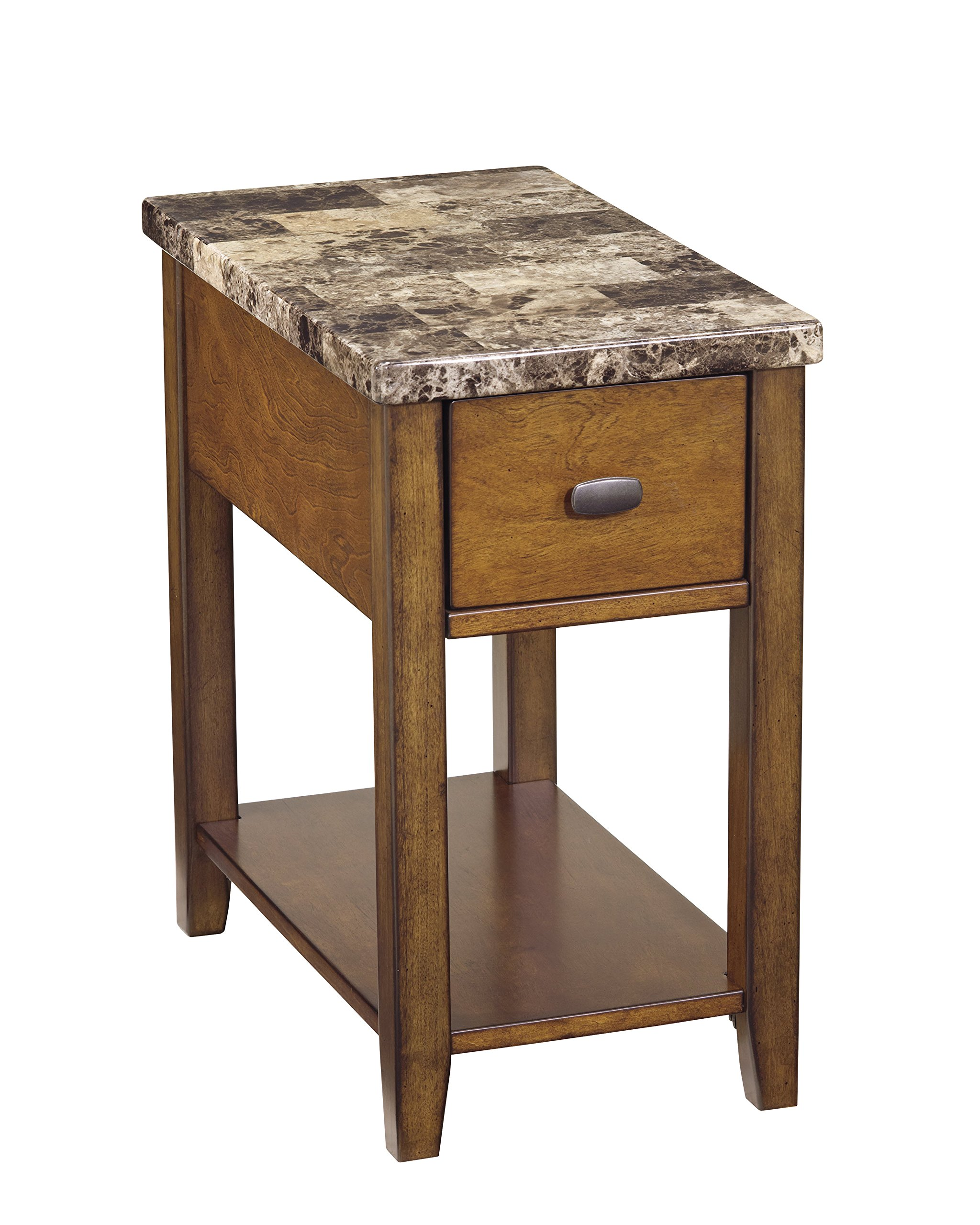 Ashley Furniture Signature Design - Breegin Contemporary Chair Side End Table - Rectangular - Brown by Signature Design by Ashley