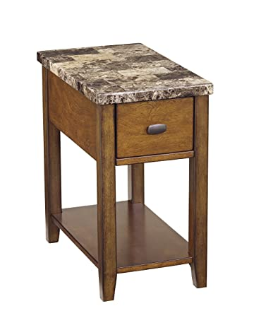 chair end table. ashley furniture signature design - breegin contemporary chair side end table rectangular brown g