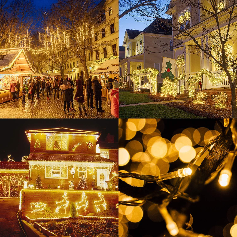 Warmwei/ß 1000er LEDs Lichterkette 25M LED Weihnachtsbeleuchtung Innen und Au/ßen Kupferdraht mit EU Stecker 8 Modi Wasserdicht f/ür Weihnachten Garten Party Geburtstag Hochzeit Weihnachtsdekoration