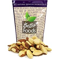 Raw Brazil Nuts 22 oz (Whole, Unsalted, No Shell, All Natural, Non-GMO, In Resealable Bag, Nutrient Dense Low Carb High Fat Snack) - 1 Pack