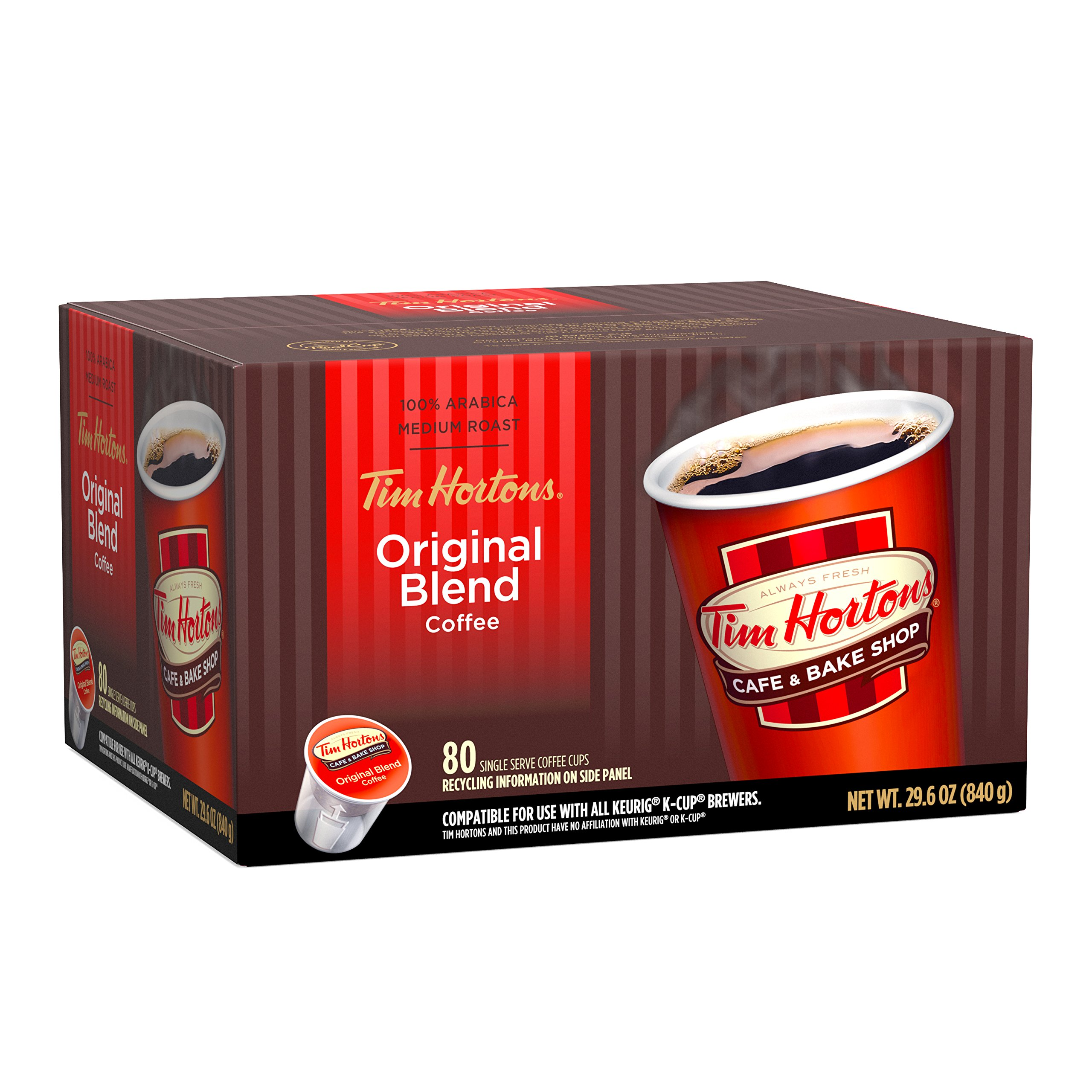 Tim Horton's Single Serve Coffee Cups, Medium Roast, 80 Count by Tim Hortons (Image #3)