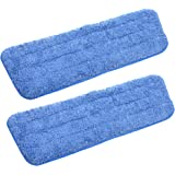 """COSMOS Pack of 2 Microfiber Replacement Mop Pad for Wet & Dry Home & Commercial Cleaning Refills, 16"""" x 5.5"""""""