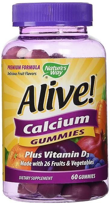 Amazon.com  NATURES WAY Alive! Calcium Plus D Gummies b4259b9ad9d13