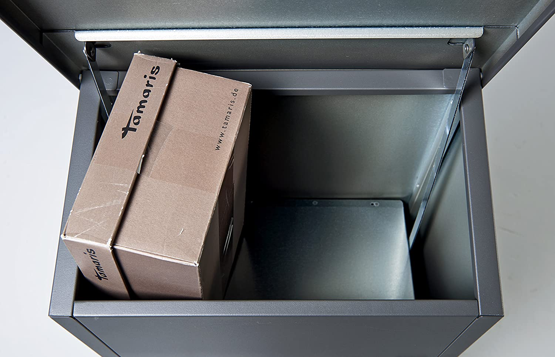 F54622 XXL Grande Bo/îte /à Colis et Lettres Noir,1050 x 380 x 230 mm Allux 600