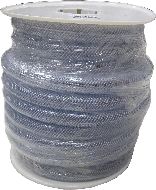 LDR 515 B5006S Braided Vinyl Hose Tubing, 1-Inch ID X 1-3/8-Inch OD, Clear, 50-Foot Spool