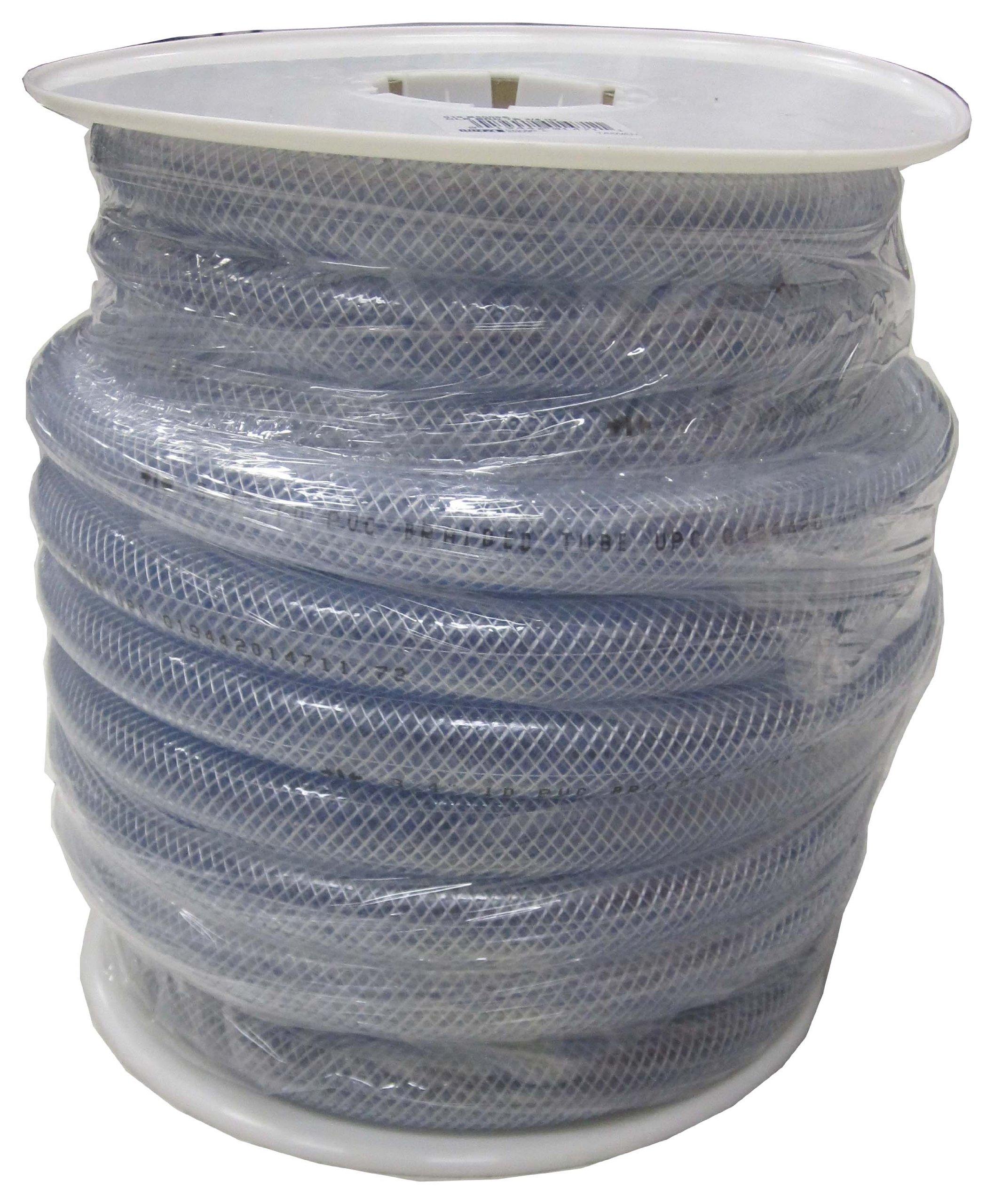 LDR 515 B5005S Braided Vinyl Hose Tubing, 3/4-Inch ID X 1-Inch OD, Clear, 75-Foot Spool