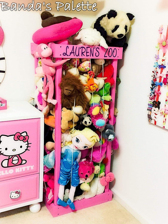 "2', 32"", 3', 4' Personalized Stuffed Animal Zoo, Wood Animal Holder, Storage, Stuffed Animal Organizer, Kids Gifts, Ball Storage, Birthday Gift, Stuffed Animal Storage, Zoo Keeper 916MgakINqL._SL1500_"