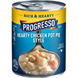 Progresso Soup, Rich & Hearty, Hearty Chicken Pot Pie Style Soup, 18.5 oz Cans (Pack of 12)