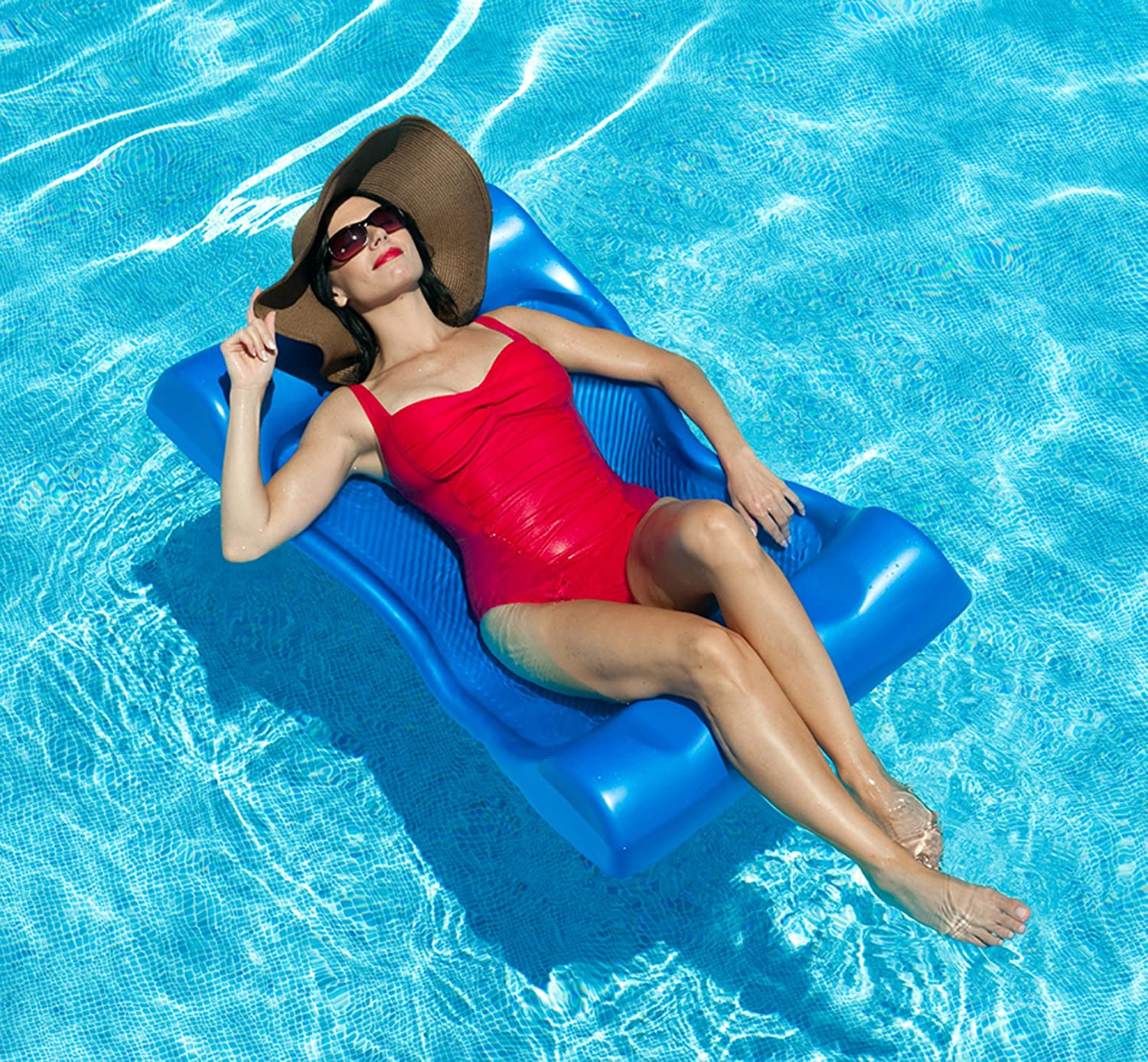 Amazon Deluxe Aqua Hammock Pool Float 48 in x 27 in