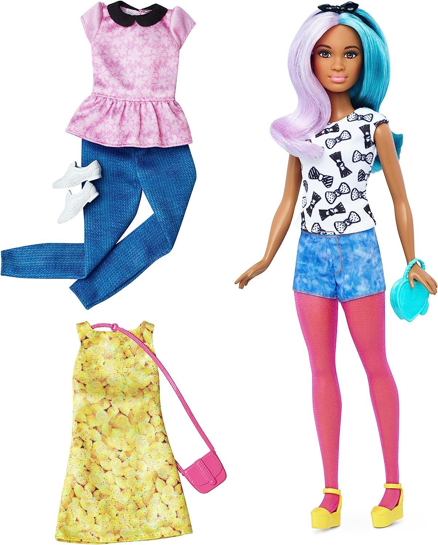 Amazon.es: Barbie Fashionista, muñeca peinado multicolor con 2 ...