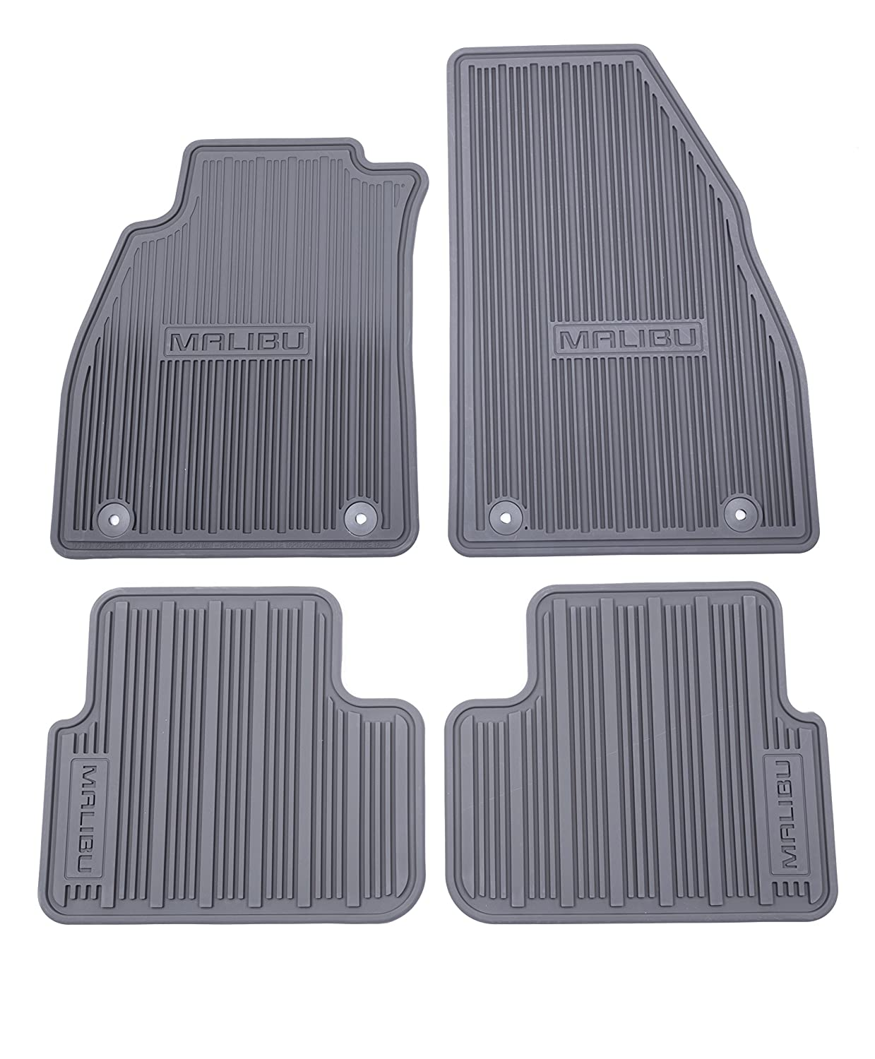 GM Accessories 22906996 Front and Rear All-Weather Floor Mats in Black with Deep Rib