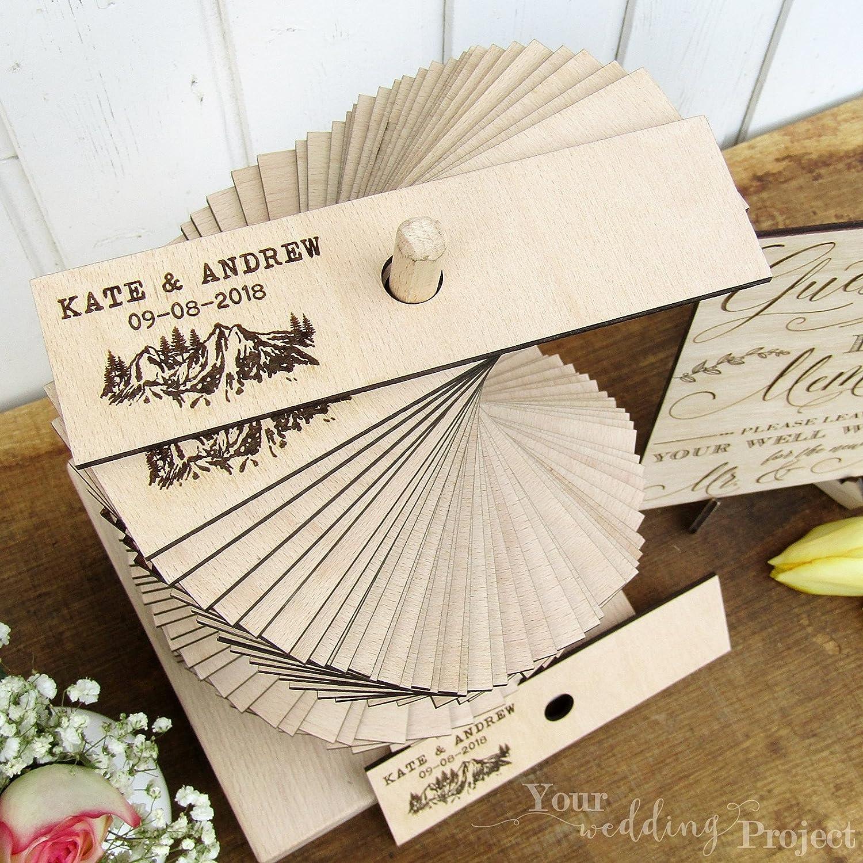 Amazon.com: Wedding Guest Book Alternative, Mountain Wedding Guest ...