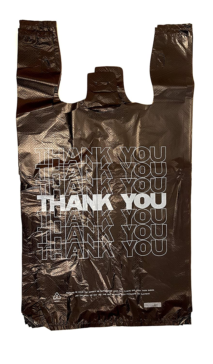 Black t shirt carryout bags - Amazon Com Plastic Bag Thank You T Shirt Carry Out Bags Black 20 X 11 X 6 18 Microns 400 Bags Per Case Kitchen Dining