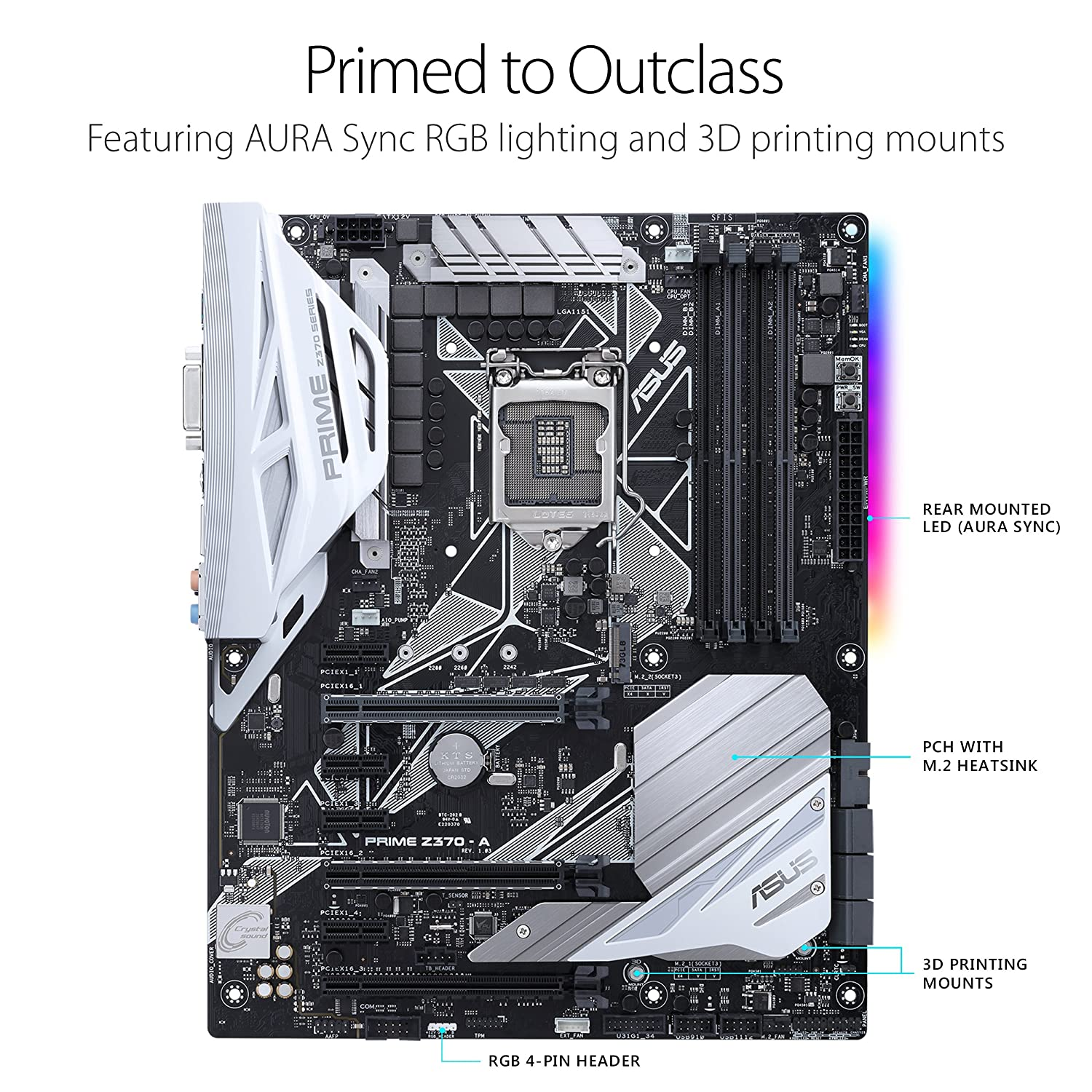 Asus Prime Z370 A Lga1151 Ddr4 Dp Hdmi Dvi M2 Usb 31 Wifienabled Rgb Led Strip Controller Stavros39 Stuff Atx Motherboard With For 8th Generation Intel Core Processors Computers