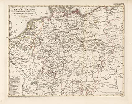 Map Of The Netherlands And Germany.Amazon Com Map Poster Germany Netherlands Belgium And