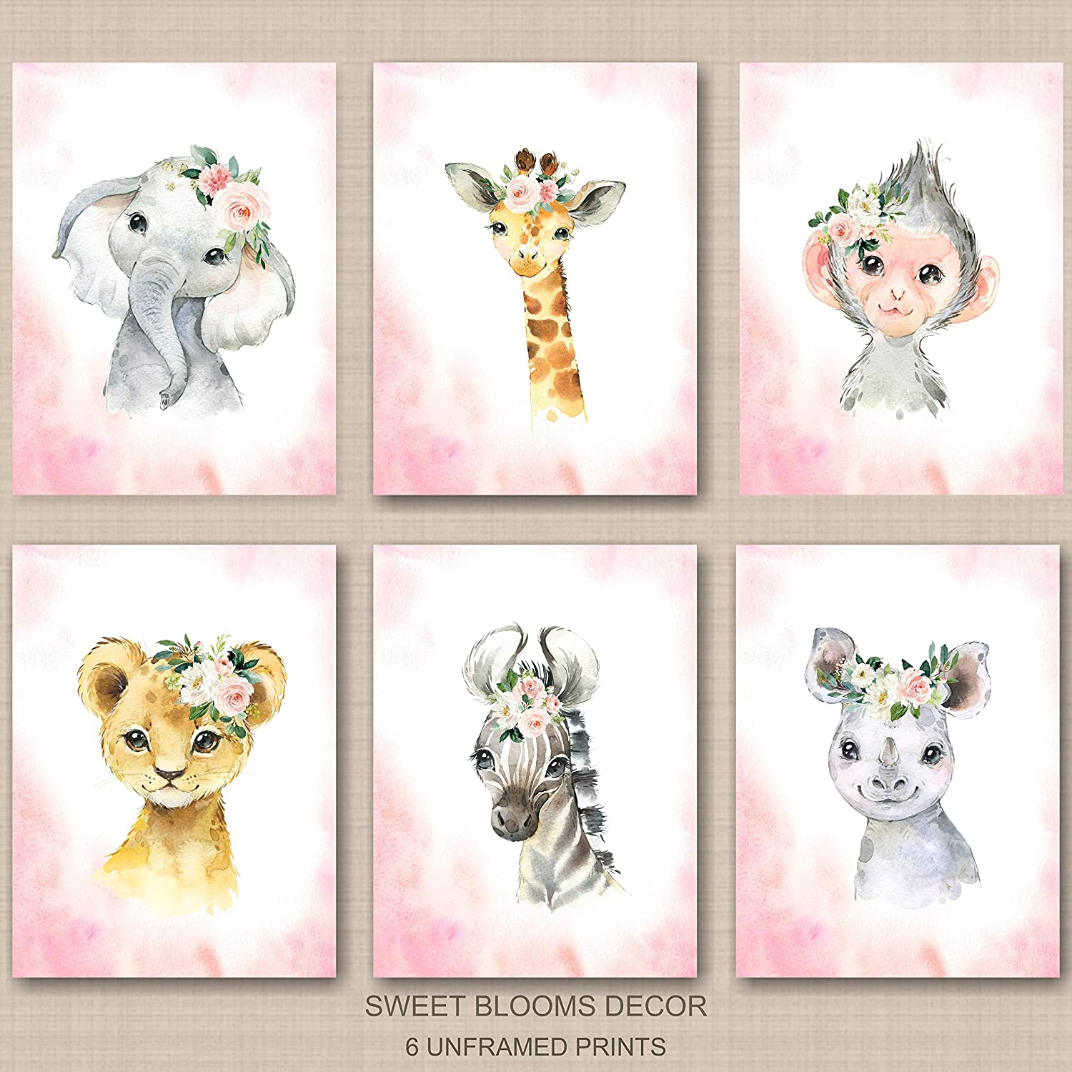 Nursery Wall Art Baby Room Decor Picture Gift Cute Baby Owl with Stars Print