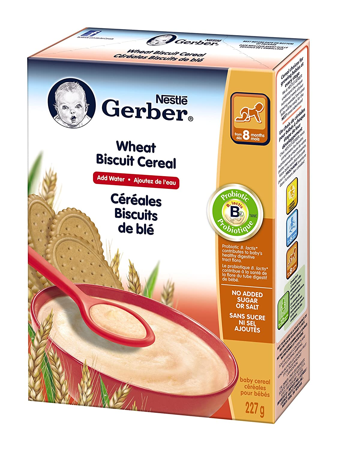 Gerber Yogourt and Blueberry Cereal, Complete, Stage 3, 227g box (6 pack) Nestlé