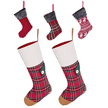 Amazon.de: Country Style Festive Highland Weihnachtsstrumpf Family ...