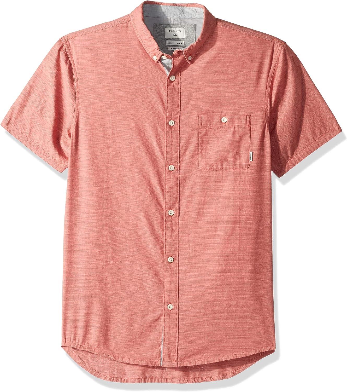 Quiksilver Hombre Manga Corta Camisa de Botones: Amazon.es: Ropa y accesorios