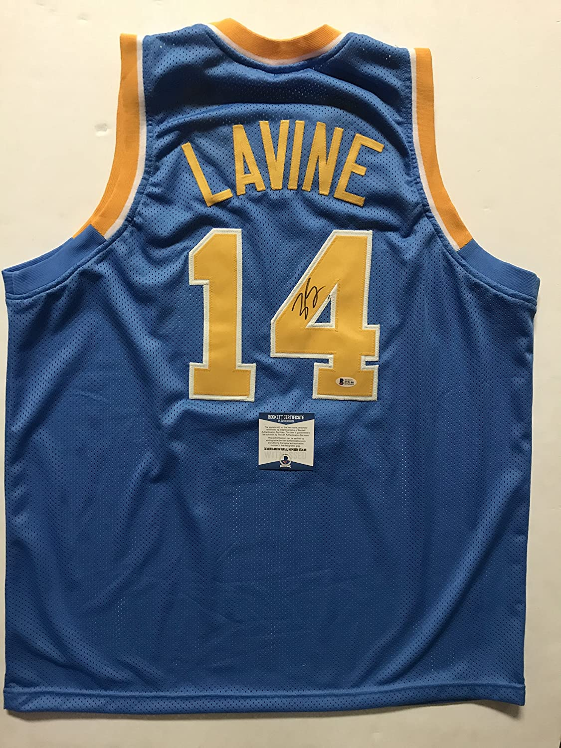 771167095 Autographed Signed Zach LaVine UCLA Bruins Blue Basketball Jersey Beckett  BAS COA at Amazon s Sports Collectibles Store