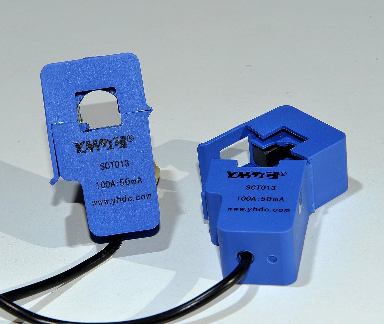 SODIAL(R) SCT 013-030 - Trasformatore di corrente CC, non invasivo, 3,5 mm, colore: Blu 007190