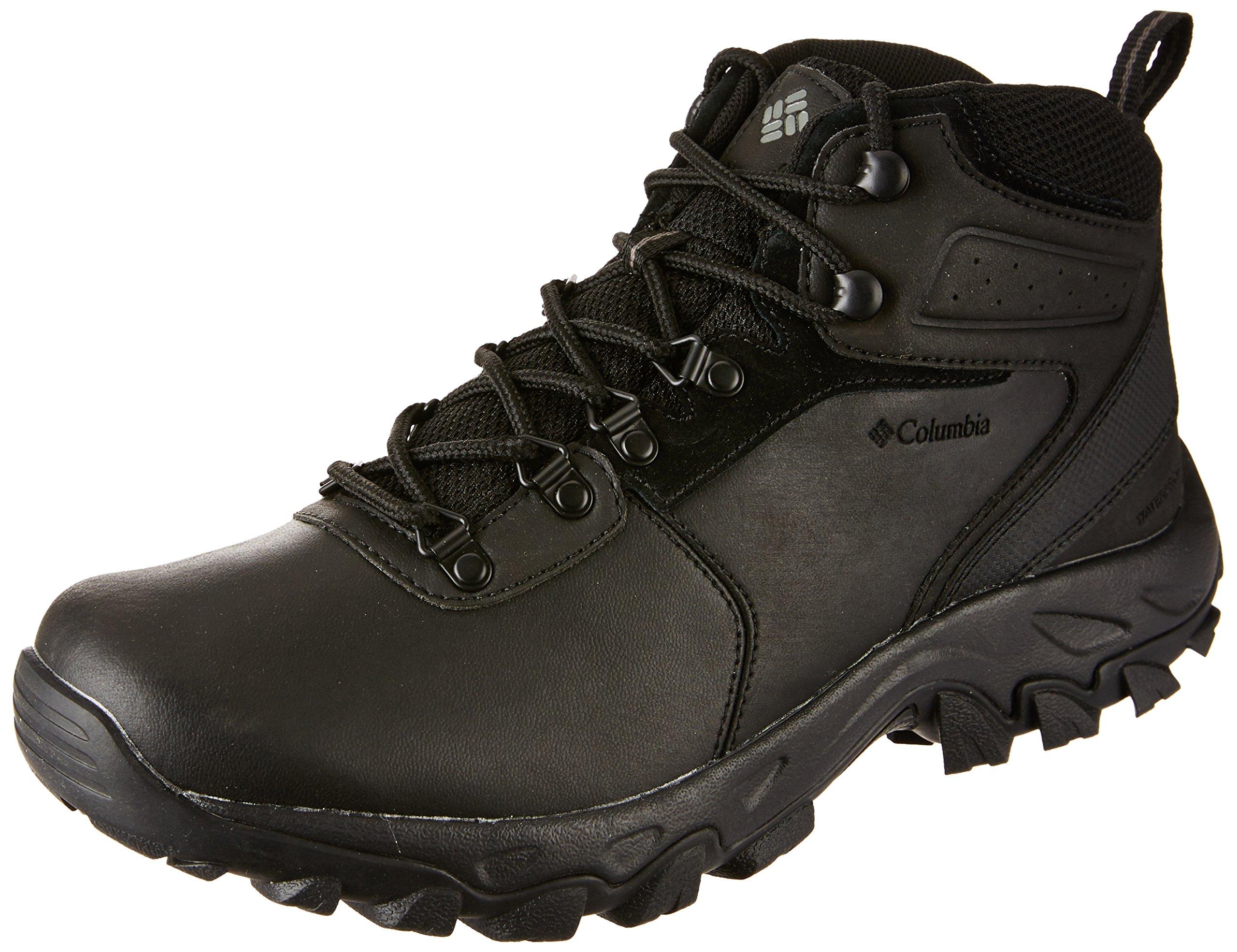 Columbia Men's Newton Ridge Plus II Waterproof Hiking Boot, Black/Black, 12 D US