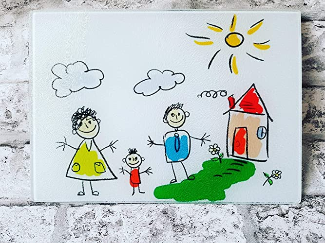 Cutting Chopping Board With Your Child S Favourite Drawing