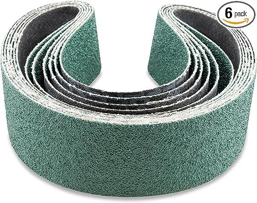 6 Pack 2 X 42 Inch 40 Grit Metal Grinding Ceramic Sanding Belts
