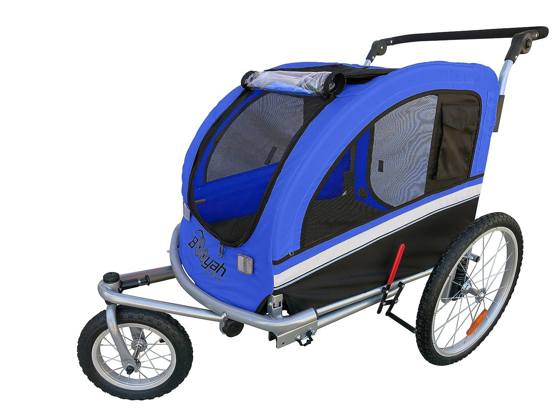 MB Booyah Large Pet Trailer Pet Bike Trailer Jogger with Shocks – Blue