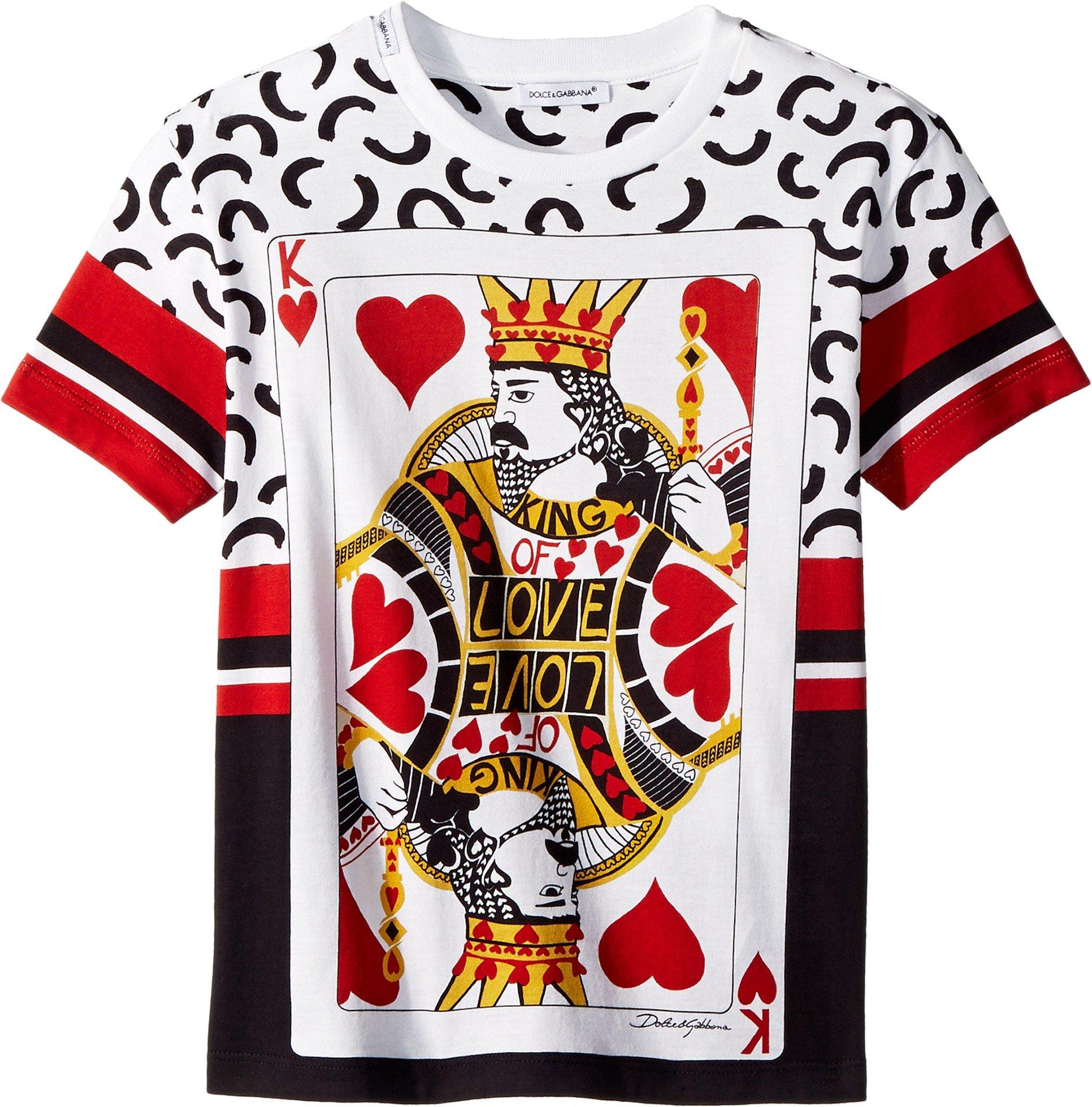 Dolce & Gabbana Kids Baby Boy's King Of hearts T-Shirt (Toddler/Little Kids) White 5