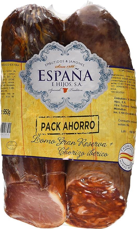 España Formato Ahorro de Lomo y Chorizo Ibérico - 950 gr: Amazon.es: Alimentación y bebidas