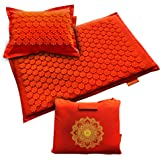 Acupressure Mat and Pillow Set - Acupuncture Massage Mat for Relieving Back, Neck Pain and Headaches - Naturally Relieve Tens