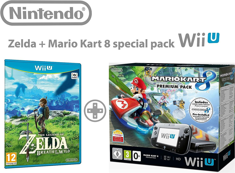 Nintendo Wii U consola Premium Pack 32GB + Mario Kart 8 + Super ...