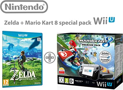 Nintendo Wii U consola Premium Pack 32GB + Mario Kart 8 + The Legend of Zelda: Breath Of the Wild: Amazon.es: Videojuegos