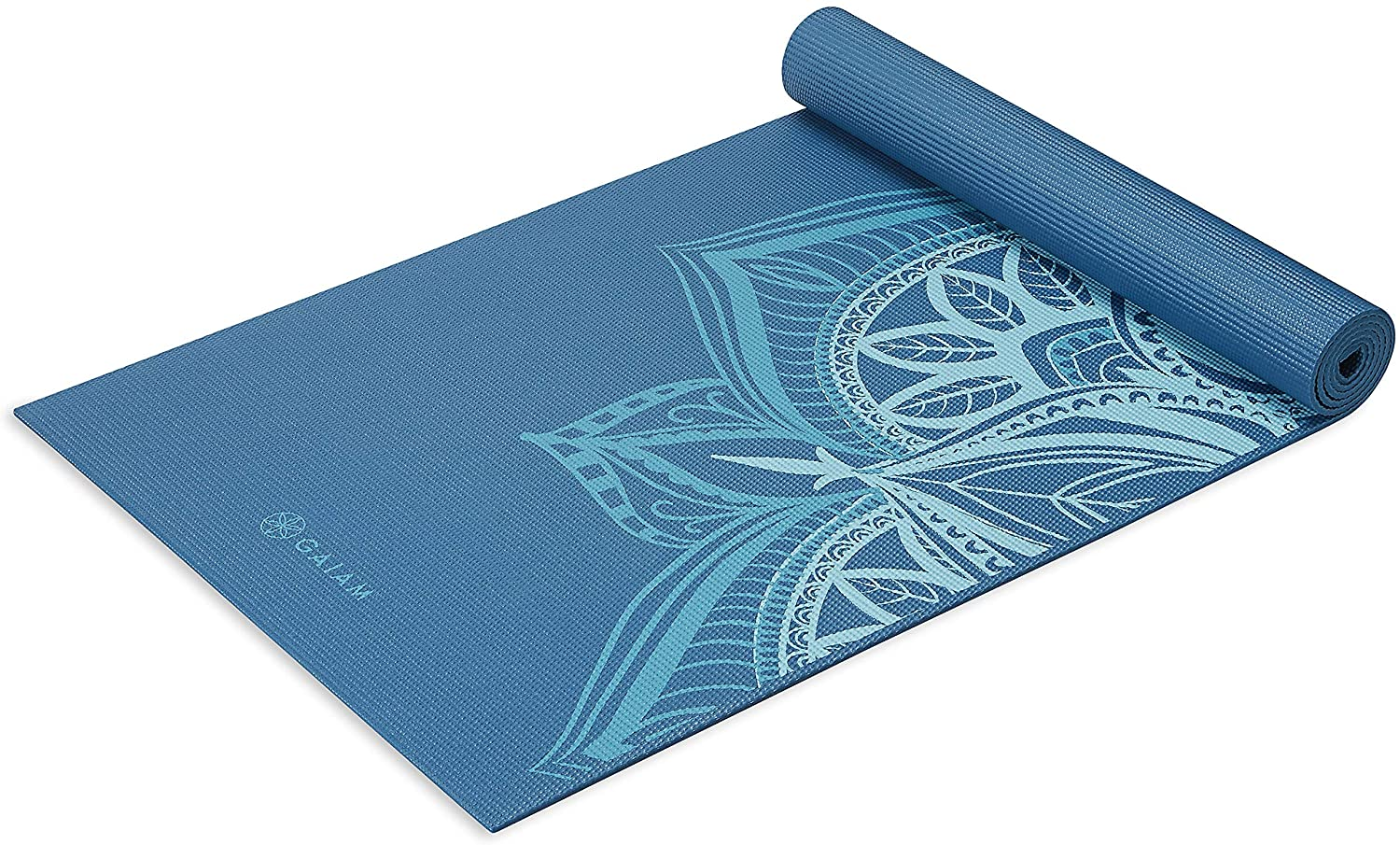 "Gaiam Yoga Mat - Premium 6mm Print Extra Thick Non Slip Exercise & Fitness Mat for All Types of Yoga, Pilates & Floor Workouts (68"" x 24"" x 6mm)"