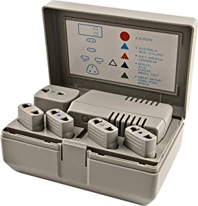 Simran PG3 50-Watt - 1600-Watt World Travel Voltage Converter/International Plug Adapter Kit for Foreign Travel to 220V/240V Countries, Ivory