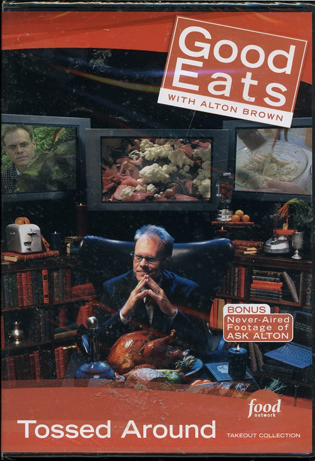 Food Network Takeout Collection DVD - Good Eats With Alton Brown - Tossed Around - Includes BONUS FOOTAGE Plus Salad Daze 1 Caesar / Salad Daze 2 - The Long Arm of Slaw / This Spud's For You - Potato Salad
