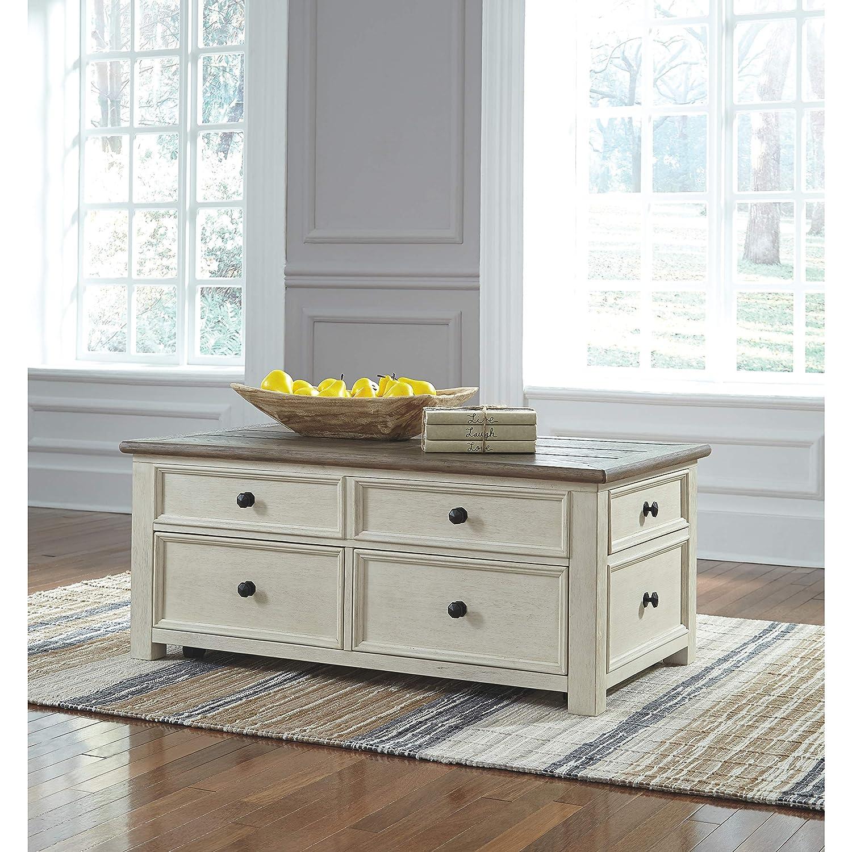 Ashley Furniture Signature Design – Bolanburg Liftside Cocktail Table, Two-Tone