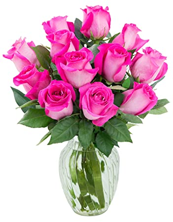 Amazon Kabloom Sweet Pink Bouquet Of 12 Fresh Cut Pink Roses