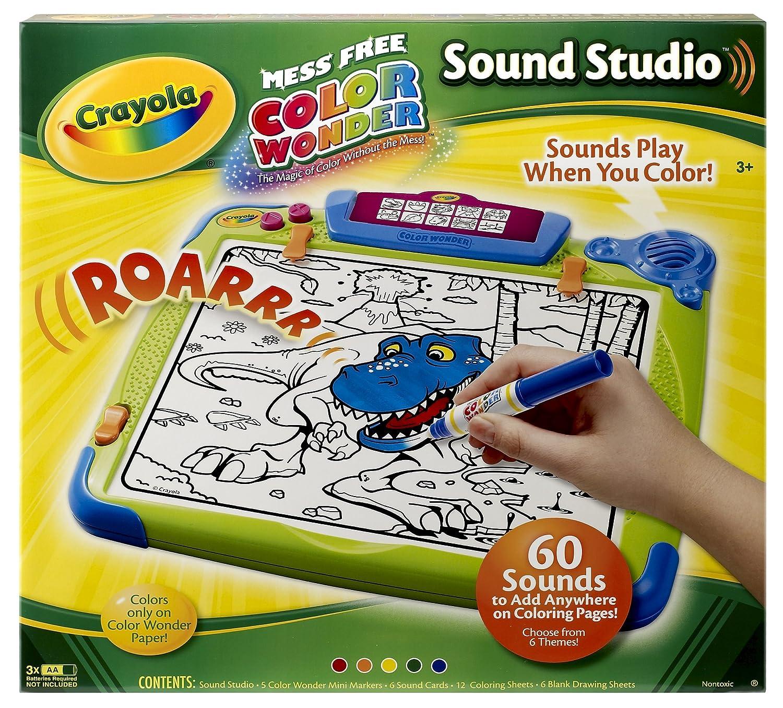 amazoncom crayola color wonder sound studio toys games