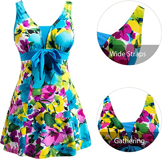 Free Amazon Promo Code 2020 for Womens Floral Swimdress Modest Swimwear