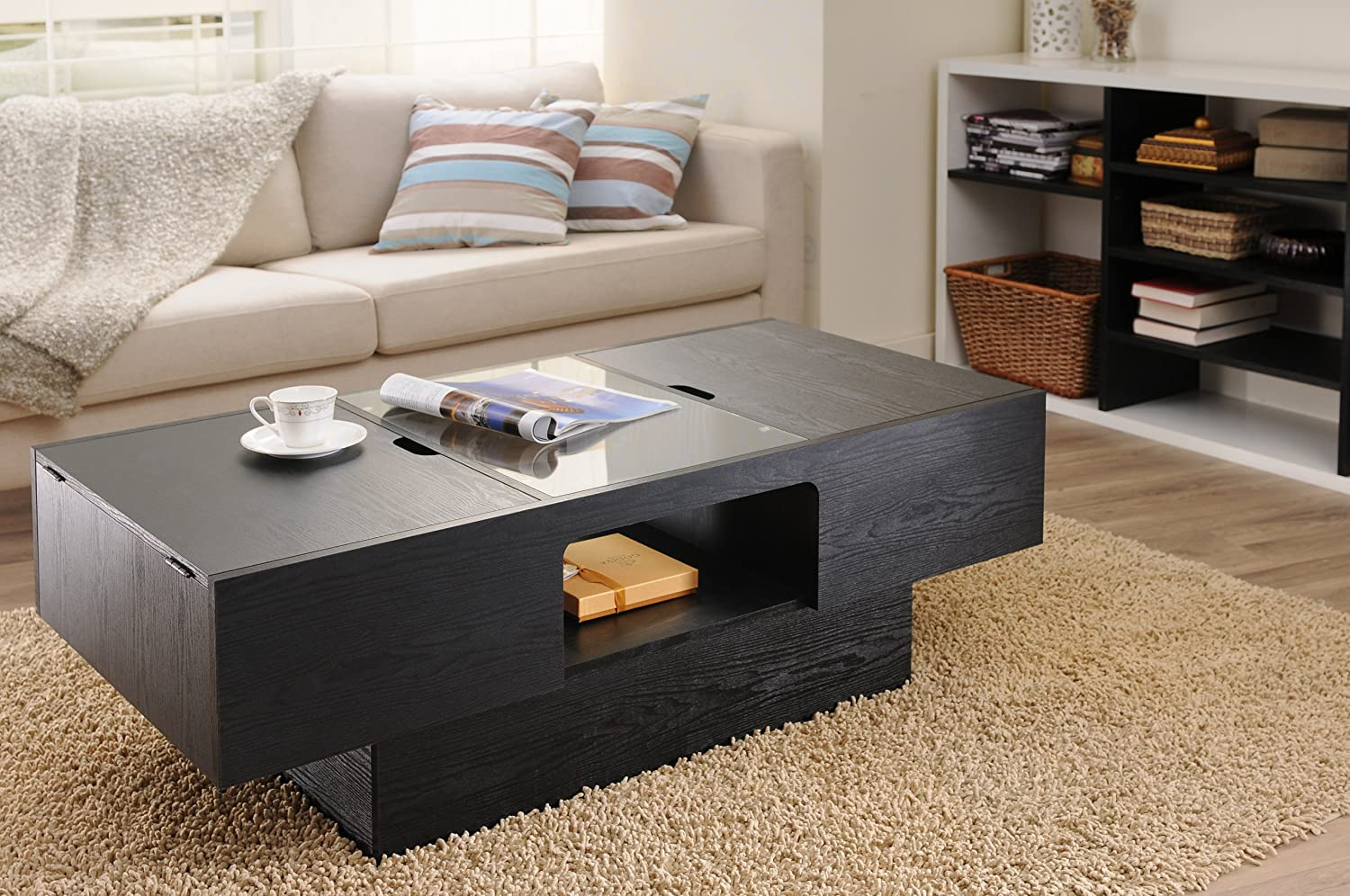 Amazon ioHOMES Lansing Rectangular Coffee Table with Storage