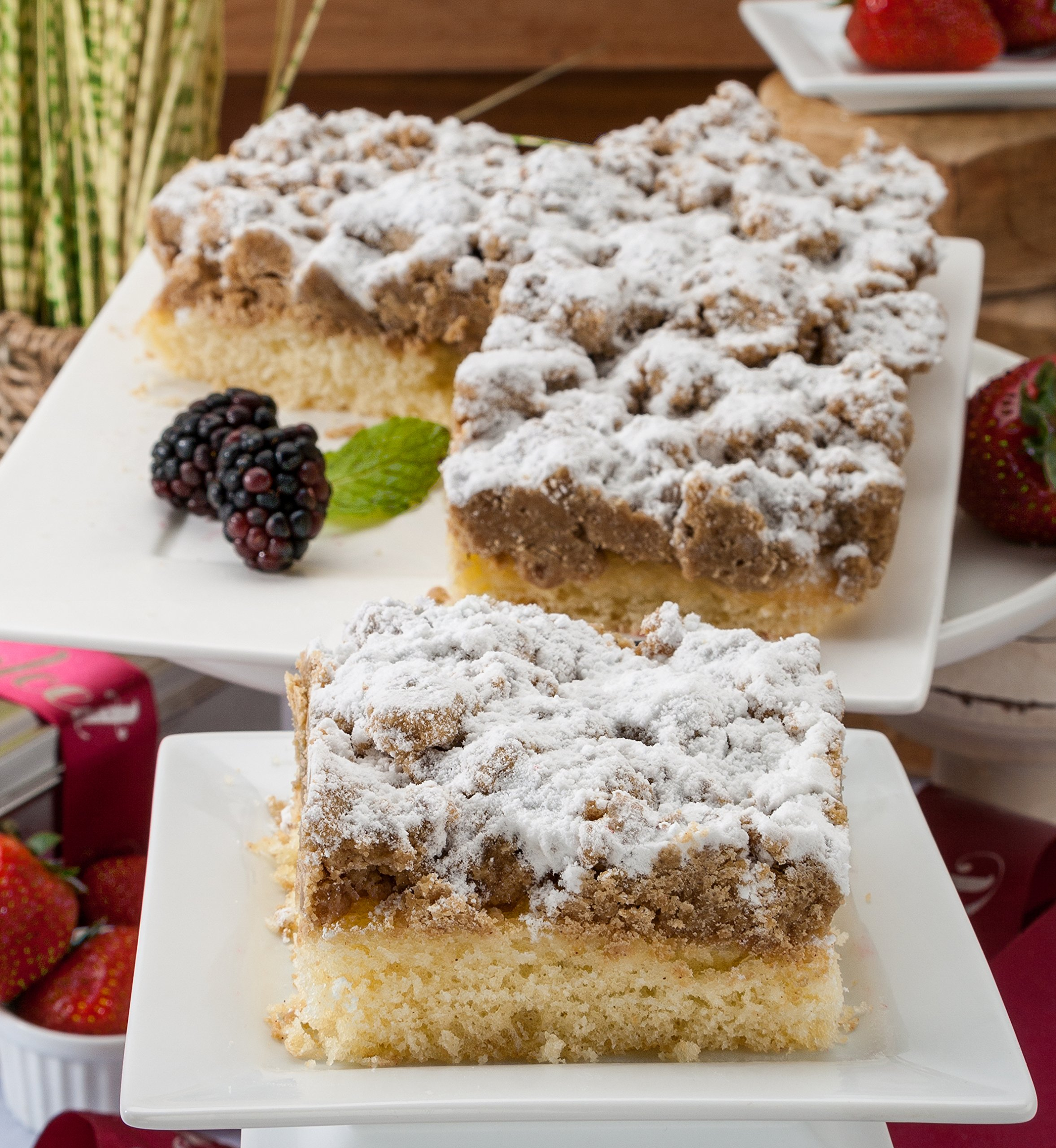 Dulcet Original Old Fashioned Crumb Cake Gourmet Gift Basket, incudes 2 boxes of 8 X 8 Crumb Cakes, ideal for birthday, get well, Sympathy, thank you, top gift! by Dulcet Gift Baskets (Image #1)