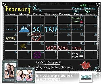 Kühlschrank Kalender : Connect magnetische kühlschrank kalender dry erase board schwarz