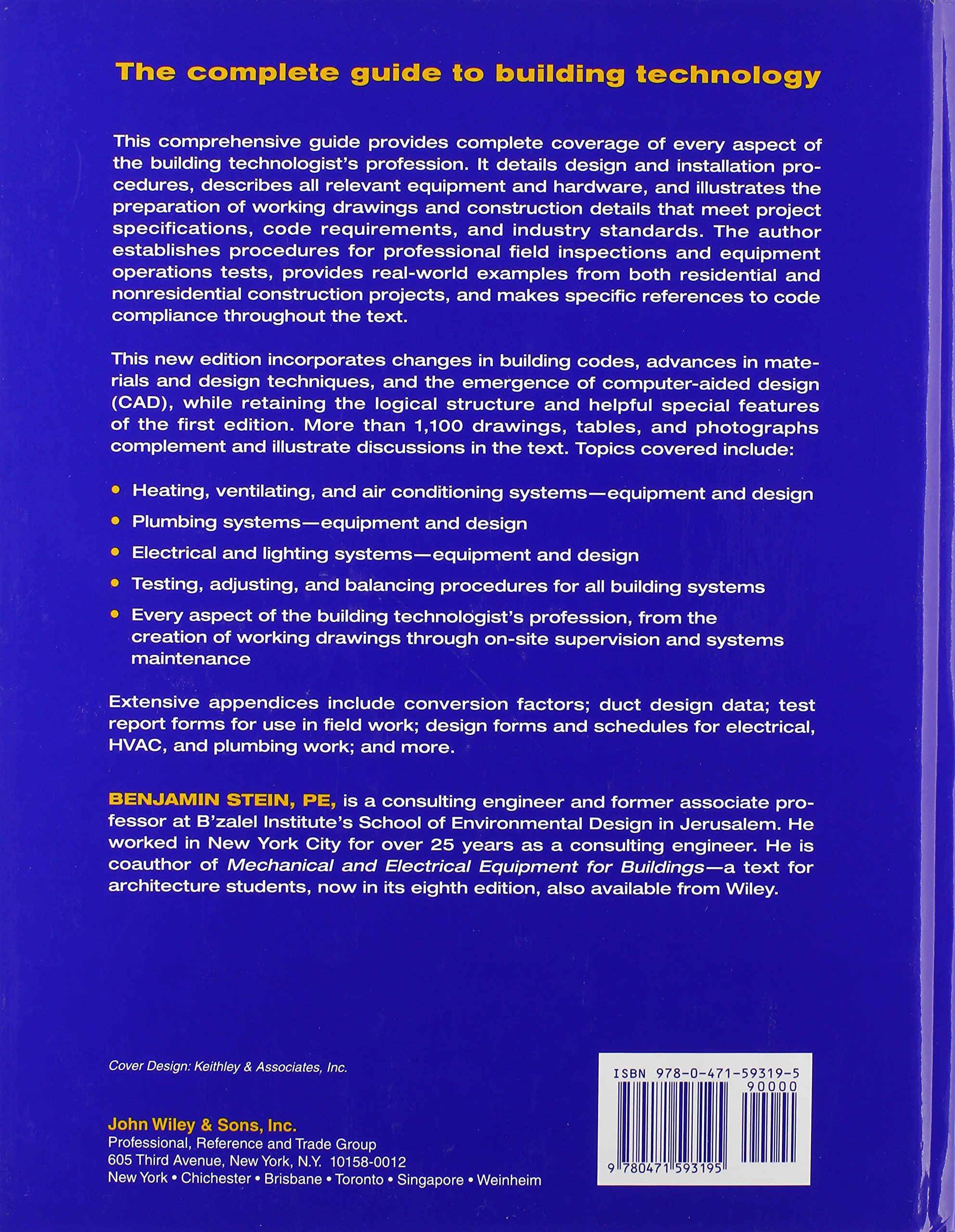 Buy Building Technology: Mechanical and Electrical Systems