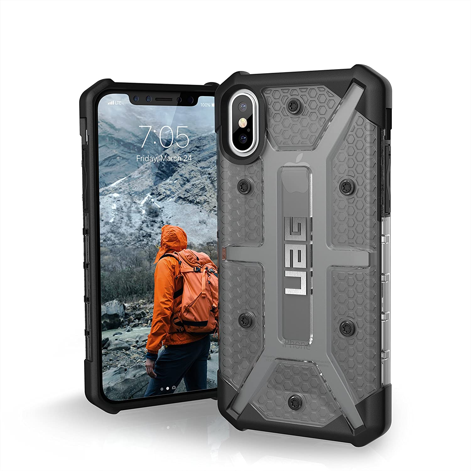 URBAN ARMOR GEAR UAG iPhone Xs/X [5.8-inch screen] Plasma Feather-Light Rugged Military Drop Tested iPhone Case, Ash